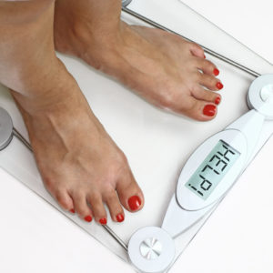 bathroom scale showing help