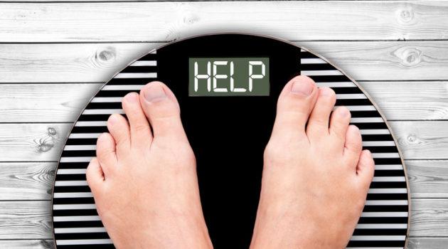 help written on weight scale