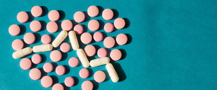 pills in shape of heart
